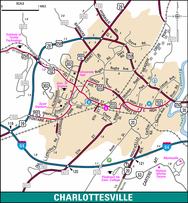 Charlottesville Va Map Maps